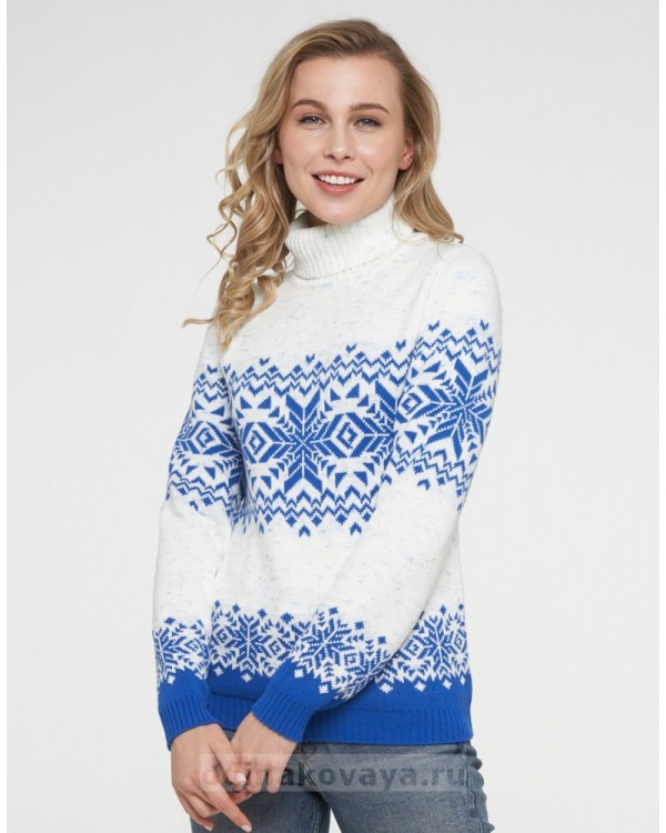 Новогодние свитера для пары АЛЬТАИР электрик