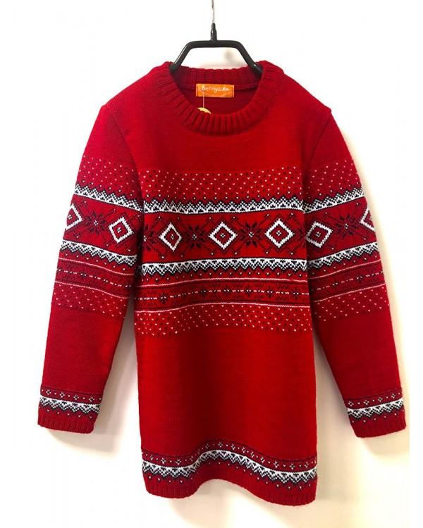 Одинаковые свитера  ЗИМНЯЯ ВИШНЯ