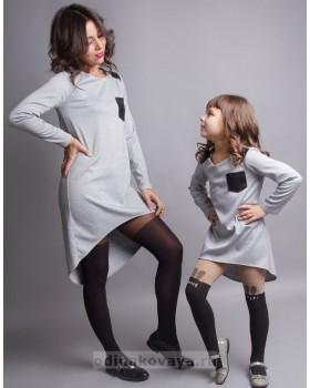 Комплект платьев-туник Family Look для мамы и дочки Актив М-230