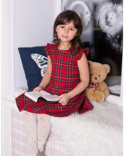 Платье для девочки Шотландка М-250