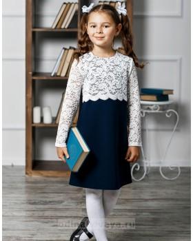 Школьное платье для девочки Мелания М-292