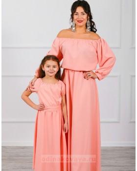 Комплект платьев Family Look для мамы и дочки Элегия М-244