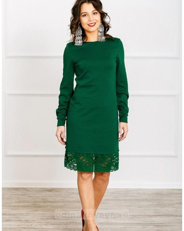 Платье Винтаж PLUS М-279 цвет зеленый