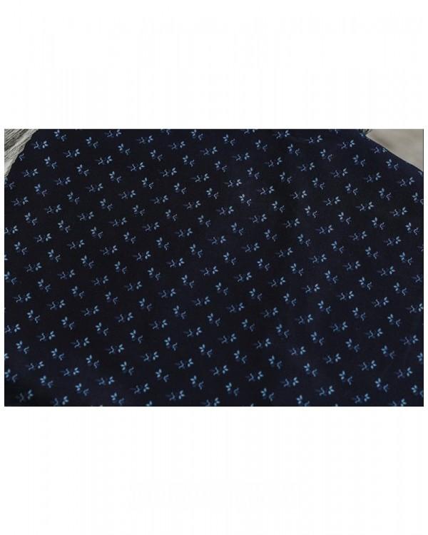 Комплект рубашек в стиле Family Look для папы и сына М-1001 цвет синий