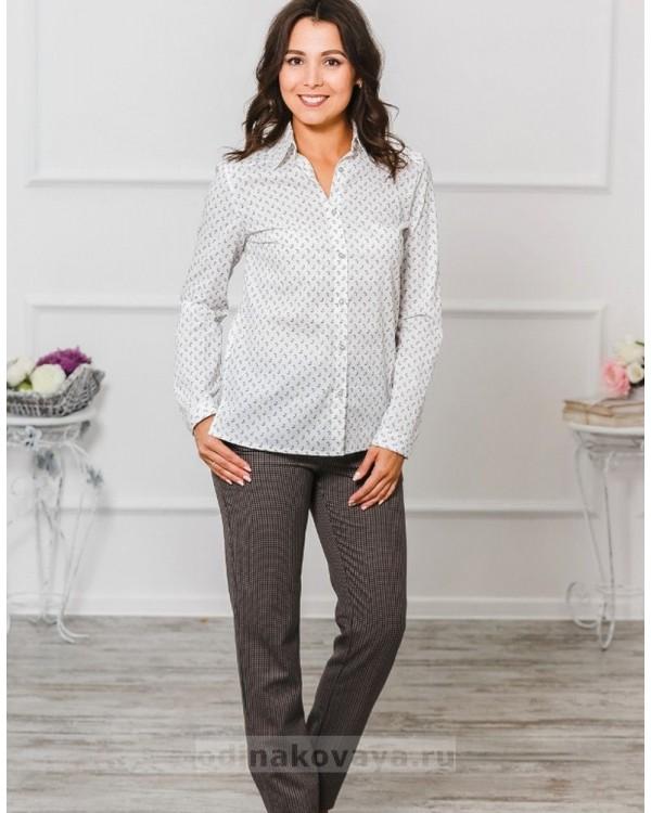 Комплект рубашек в стиле Family Look для мамы и дочки М-1001 цвет белый