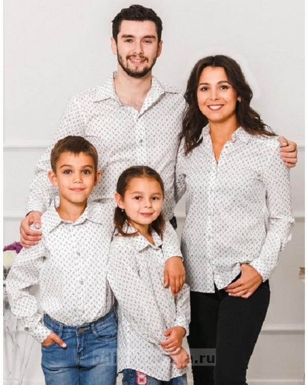 Парные рубашки М-1001 цвет белый