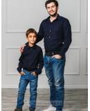 Комплект рубашек в стиле Family Look для папы и сына М-1001