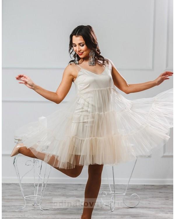 Платье Безе М-1008 цвет пудровый