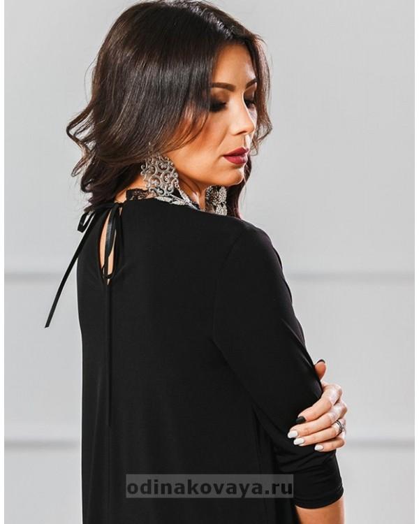 Коктейльное платье Саманта М-1014 цвет черный