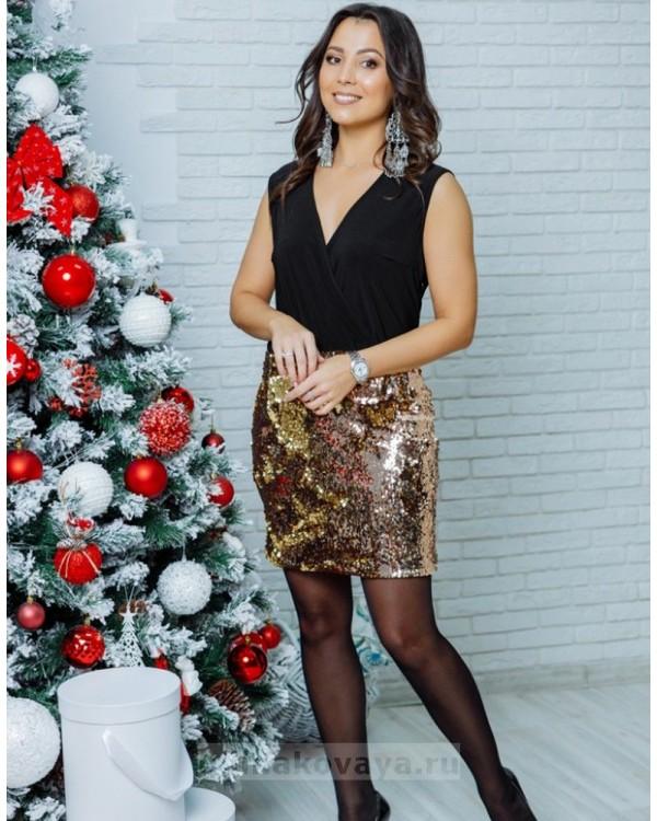 Коктейльное платье Бурлеск М-1015 цвет желтый
