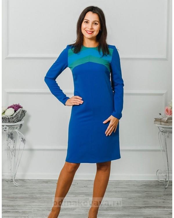 Комплект платьев для мамы и дочки Радуга М-2004 цвет синий
