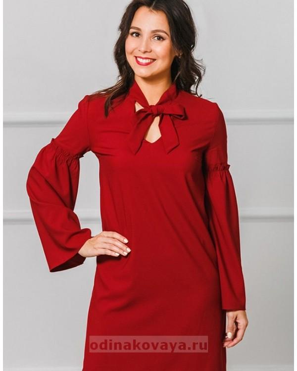 Платье Камилла М-2006 цвет бордовый