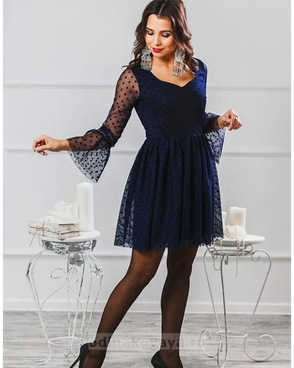 Платье Катрин М-2007 цвет синий