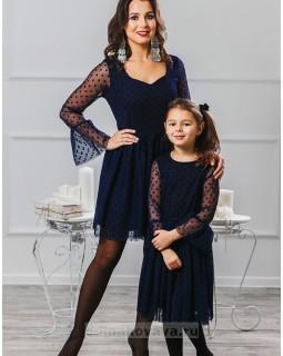Комплект платьев для мамы и дочки Катрин М-2007