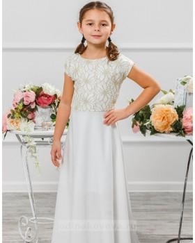 Длинное платье для девочки Эльза М-2010