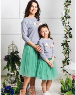 Комплект фатиновых юбочек для мамы и дочки Зефирки М-2024