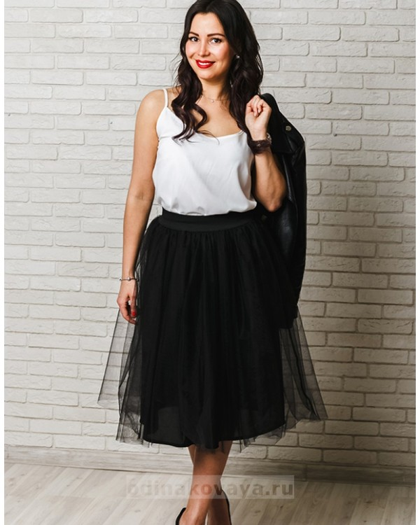 Фатиновая юбка Зефирка М-2024 цвет черный