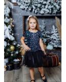 Комплект фатиновых юбочек для мамы и дочки Зефирки М-2024 цвет черный