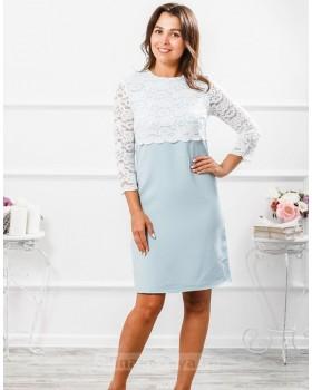 Платье с кружевной кокеткой Мелания М-292
