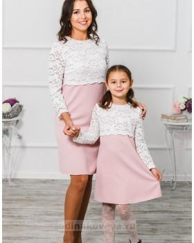 Комплект платьев для мамы и дочки Мелания М-292