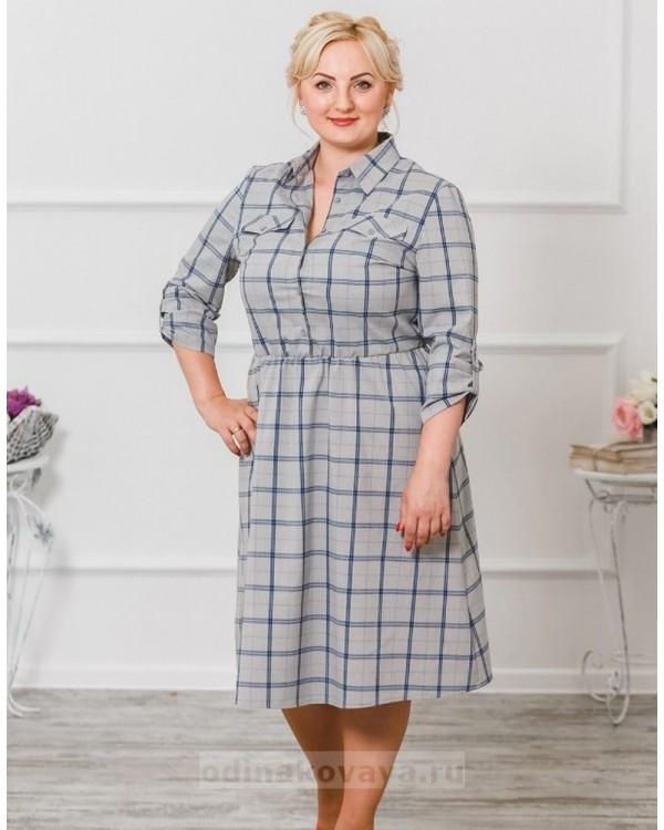 Комплект платьев для мамы и дочки Глория М-294 цвет серый