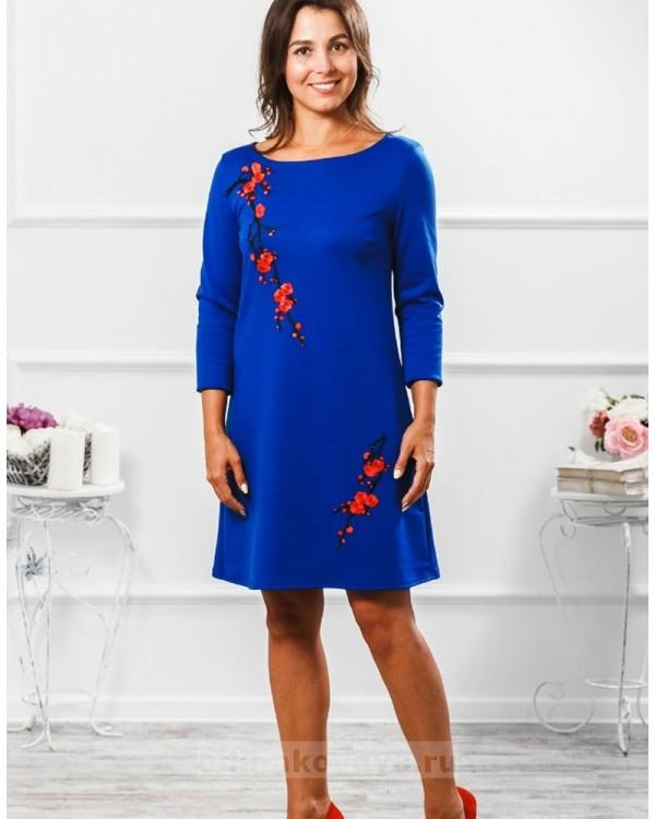 Комплект платьев для мамы и дочки Сакура М-297 цвет синий