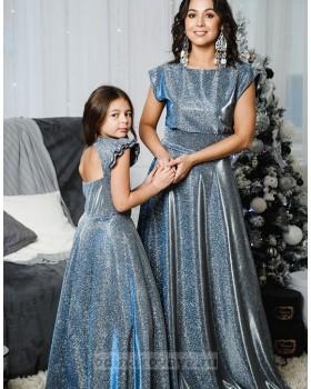 Комплект платьев Family Look для мамы и дочки Золушка М-2055