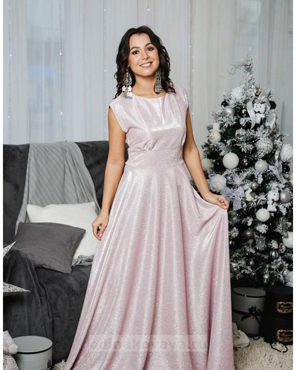 Комплект платьев Family Look для мамы и дочки Золушка М-2055 цвет розовый