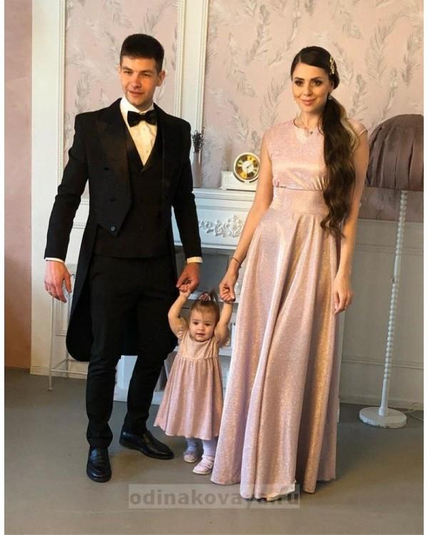 Вечернее платье с открытой спинкой Золушка М-2055 цвет розовый