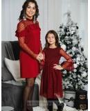 Комплект платьев Family Look для мамы и дочки Глюкоза М-2056