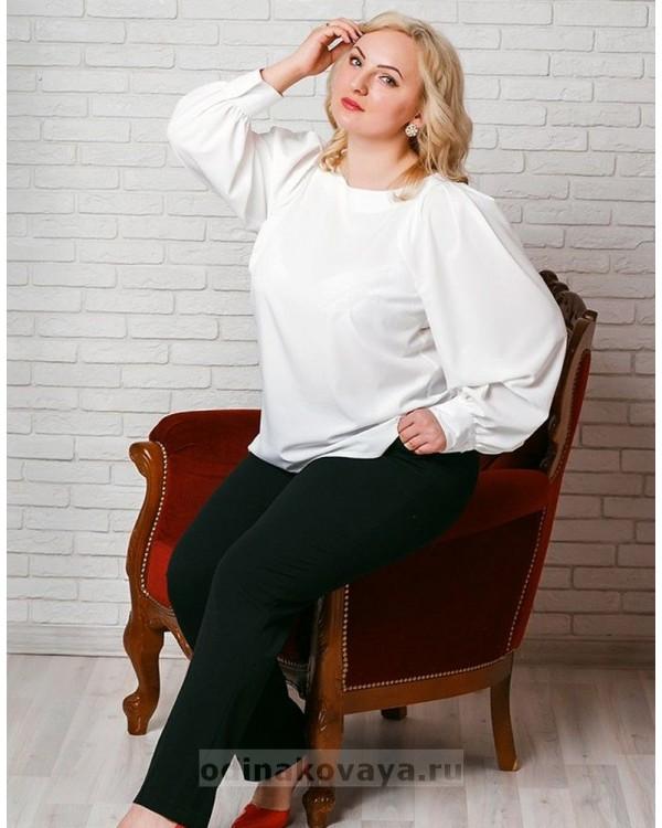 Блузка женская Стиль PLUS М-1021 цвет белый