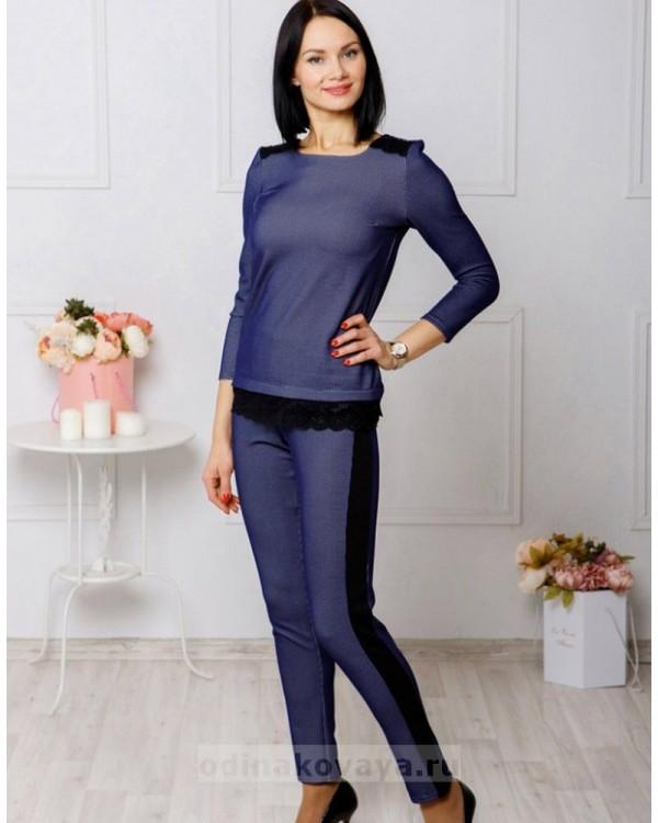 Брючный костюм Диор М-1036 цвет синий
