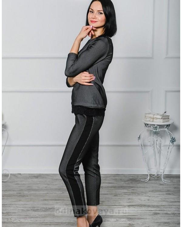 Брючный костюм Диор PLUS М-1036 цвет черный