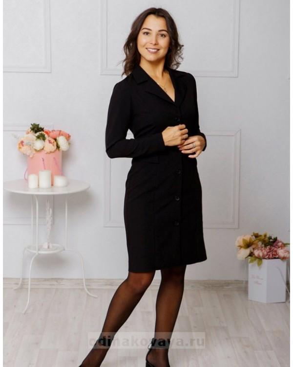 Платье-пиджак Фрак М-1040 цвет черный