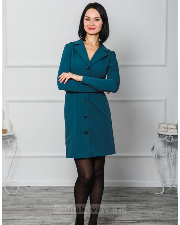 Платье-пиджак Фрак М-1040 цвет синий