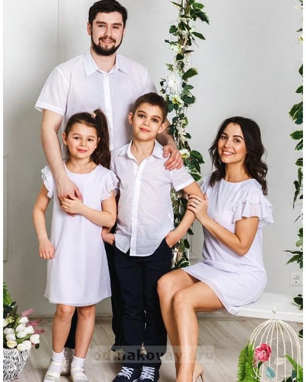 Комплект платьев для мамы и дочки Гармония М-2031 цвет белый
