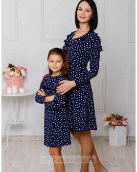 Комплект платьев для мамы и дочки Ретро М-2042