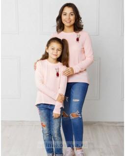 Комплект джемперов для мамы и дочки Зайка М-2043