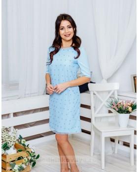 Коктейльное платье Бусинки М-2049