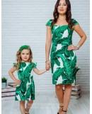 Комплект летних платьев в стиле Family Look для мамы и дочки Марсель М-2132