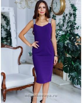 Коктейльное платье футляр Бриджит М-2149 фиолетовый