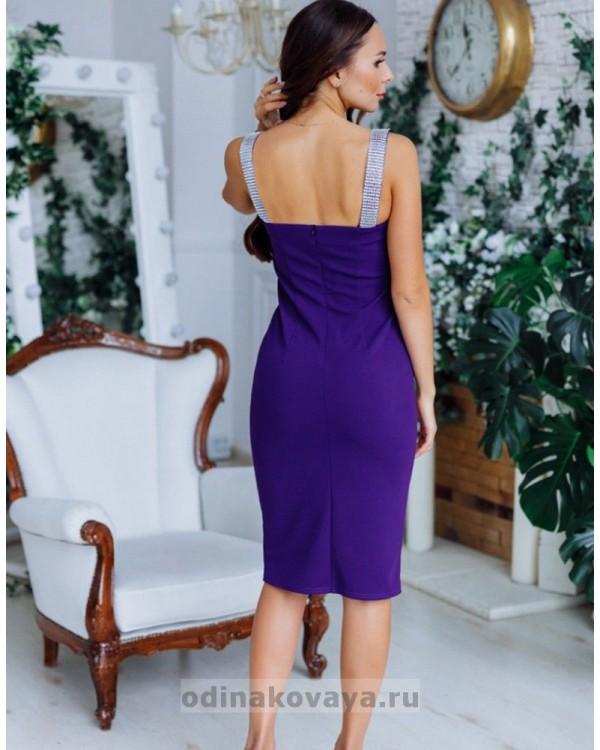 Комплект платьев в стиле Family Look для мамы и дочки Бриджит М-2149 фиолетовый