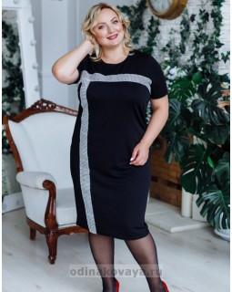 Платье Муза PLUS М-2150 черный