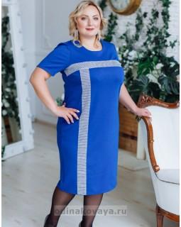 Платье Муза PLUS М-2150 синий
