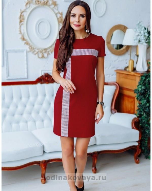 Комплект нарядных платьев в стиле Family Look для мамы и дочки Муза М-2150 бордовый