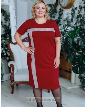 Платье Муза PLUS М-2150 бордовый