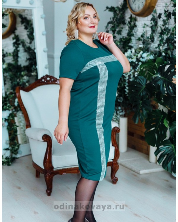 Платье Муза PLUS М-2150 бирюзовый