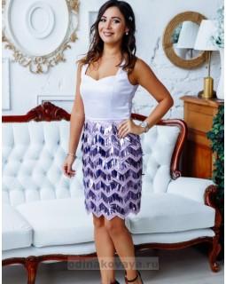 Платье с пайетками Диана М-2143 сиреневый