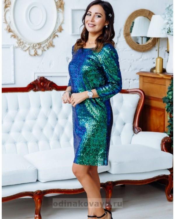 Вечернее платье из пайеток с открытой спинкой М-1146