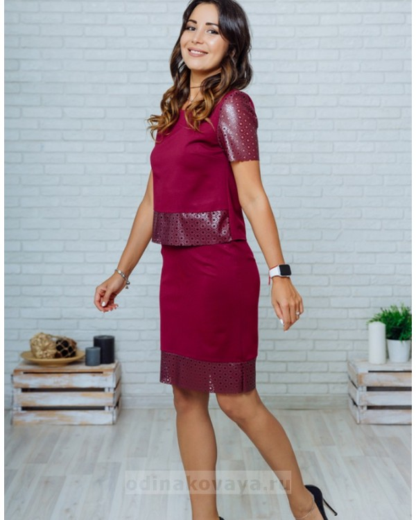 Костюм с юбкой Милан PLUS М-2139  фиолетовый